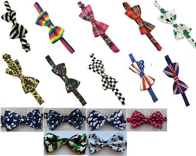 Patterend pretied bow ties good quality