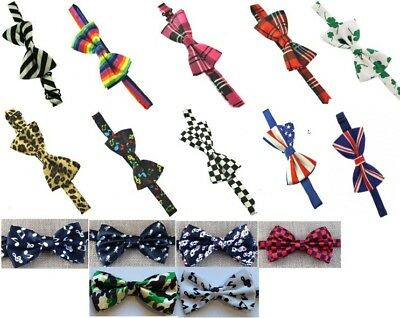 Patterned pretied bow ties good quality - fun gift - themed ties