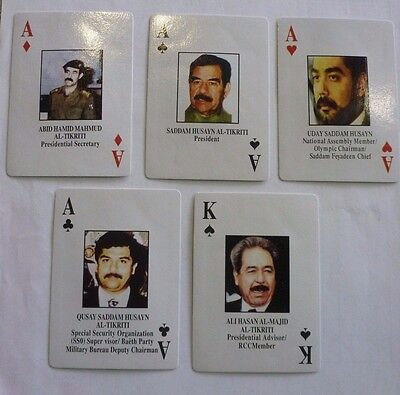 Iraqi Most Wanted Playing Cards Iraq War-Saddam Sealed NEW