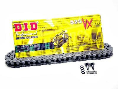 DID 525x118 Links VX Pro-Street Series Sealed X-ring Natural Chain