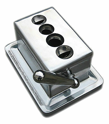 Quad Table Cigar Cutter with V and Round Shape Stainless Cutting Blades