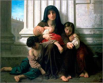 Adolphe William Bouguereau Charity #2 Giclee Canvas Print