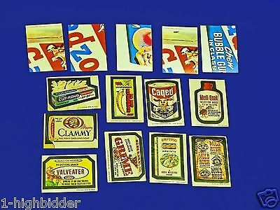 14 Topps Chewing Gum 1980 Wacky Packages Packs Trading Cards Stickers Series 6/7
