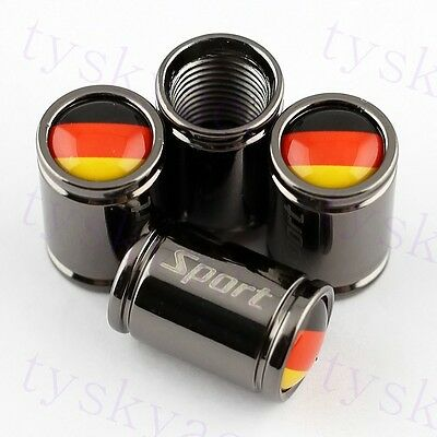 For Germany Flag Cover Trim Tyre Valve Caps Cover Titanium Styling Accessory