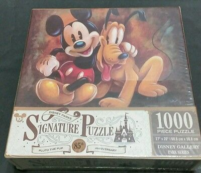 Disney Parks Mickey And Pluto Signature 1000 Piece Puzzle