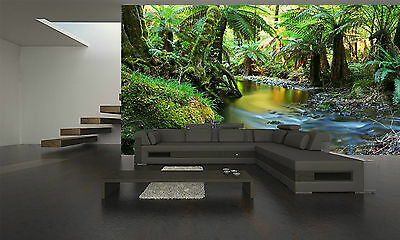 Rainforest River Wall Mural Photo Wallpaper GIANT DECOR Paper Poster Free Paste