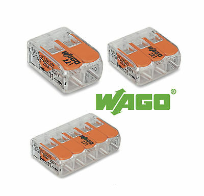 Wago Electrical Wire Block Connector Strip 12V 24V 220-240V 2-5 Cable Terminal