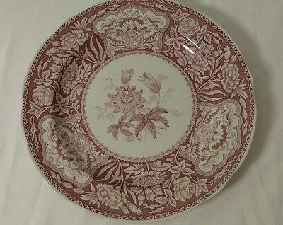 """Spode Georgian series 'Floral' Red 10"""" Dinner Plate, Price Reduced"""