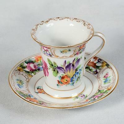 Exquisite Carl Thieme Dresden Germany Chocolate Cup & Saucer