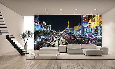 Las Vegas Strip Wall Mural Photo Wallpaper GIANT DECOR Paper Poster Free Paste