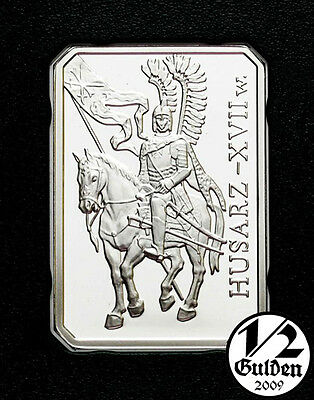 POLAND 10 Zlotych 2009 Winged Cavalryman husarz Silver Proof Coin Polish Mint