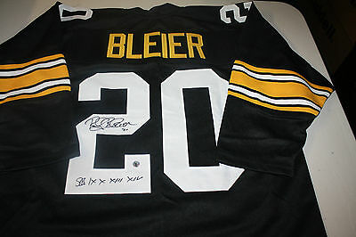 Pittsburgh Steelers Rocky Bleier #20 Signed 3/4 Sleeve Jersey 4X Sb Champs