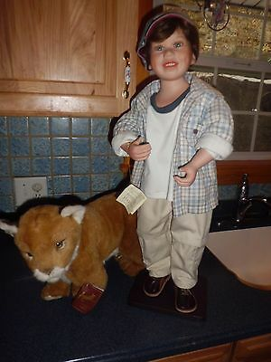 "Florence Maranuk Collection Andrew 28"" tall porcelain doll w/coa 43/1800"