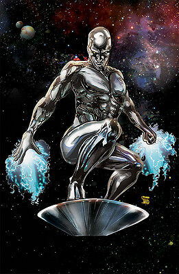 SILVER SURFER ART PRINT BY MINDY WHEELER SIGNED 11x17