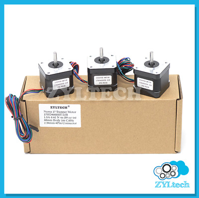 US Shipping 3X Nema17 Stepper Motor 1.5 A 0.42 Nm 59 ozin for 3D printer and CNC