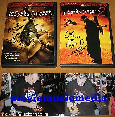 JEEPERS CREEPERS and JEEPERS CREEPERS 2 DVD signed by director VICTOR SALVA