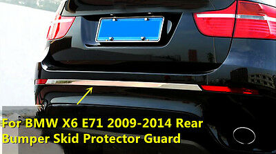 For BMW X6 E71 2009 - 2014 Stainless Rear Bumper Skid Protector Guard Cover 1pcs