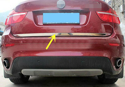For BMW X6 E71 2009 - 2014 Stainless Steel Chrome Rear Gate Lid Cover Trim 1pcs