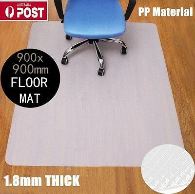 1.8MM Thick Hard Floor Chair Mat PP Plastic Protect Office Work 900 x 900mm EC