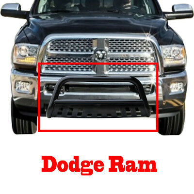 Black Dodge Ram 1500 Bull Bar 2009-2017 Grille Guard Bumper Bar with Skid Plate