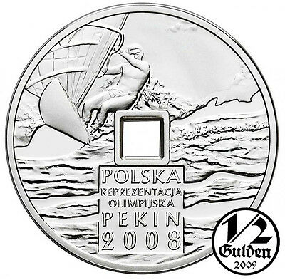 POLAND 10 Zlotych 2008 Olimpic Games Beijing Pekin Silver Proof Coin Polish Mint