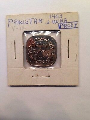 Pakistan 1953 2 anna Proof