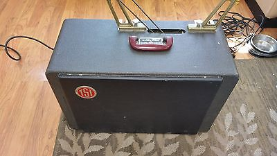 DeVry 16mm Sound Movie Suit Case Projector w/built in Speaker and Viewing Screen