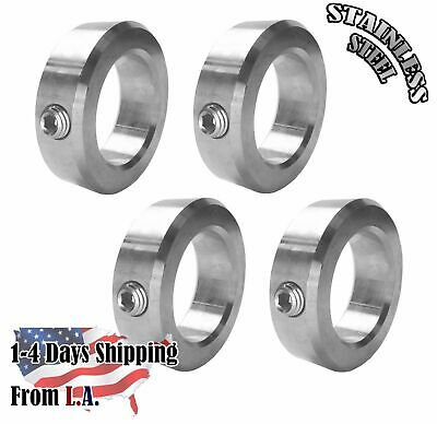 """1/2"""" Bore Stainless Steel Shaft Collars Set Screw Style (4 PCS)"""