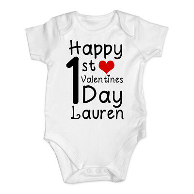 Valentines Day Baby Vest Grow Bodysuit Personalised Baby gift