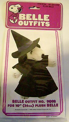 """Snoopy Sister Belle Outfit Witch 8734 Peanuts 10"""" Plush Doll Vintage Halloween"""
