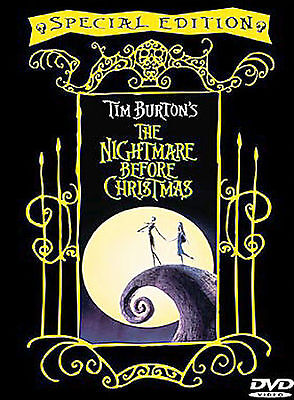 Tim Burton's: The Nightmare Before Christmas Special Edition Widescreen DVD NEW