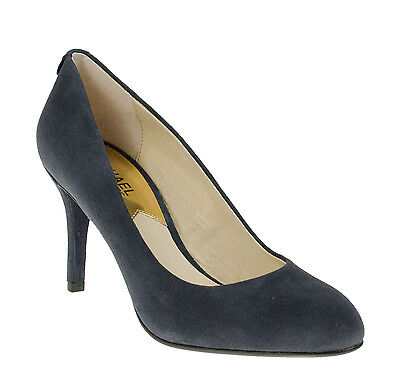 4a7a641fe9af Michael Kors Mk Flex Pump Navy Blue Women s Suede Slip On Heels Shoes  Multisizes