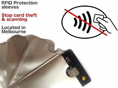 RFID Blocking Sleeves - Secure Credit Card Protector - Anti Skim Scan theft safe