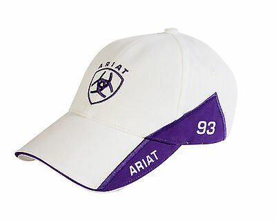 ARIAT - Signature Script Cap - White / Purple - ( 10-715 WHITE ) - New with Tags