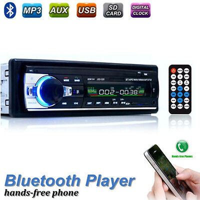 Car Radio Bluetooth Stereo 1 Din Head Unit In Dash MP3/USB/SD/AUX/FM For IPHONE