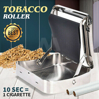 Metal Automatic Cigarette Tobacco Roller Roll Rolling Machine Box Case Tin OG