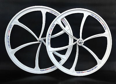700c MAGNESIUM ALLOY FIXED WHEEL FRONT AND REAR BICYCLE WITH FIXIE 6 SPOKE NEW