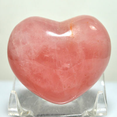 45mm Rose Quartz Puffy Heart Pink Crystal Polished Palm Love Stone Heart - China