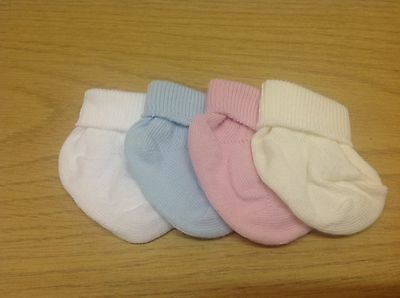 6 Pairs PREMATURE BABY - REBORN - DOLL Turn over top ankle Boys girls colours.