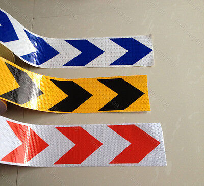 """Arrow Reflective Warning Self adhesive Tape Sticker 4"""" 10cm Width for Way"""
