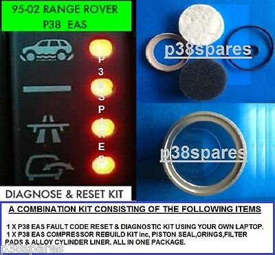 Eas Fault Code Read & Reset Leads & Eas Compressor Seal Kit For Range Rover Mkii