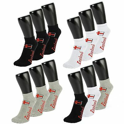 England Print Trainer Socks (3 PACK) (Size: 4-7)