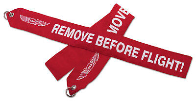 ASA Remove Before Flight Banner - High Visibility Red Streamer - ASA-RBF