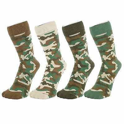 Camouflage Pattern Army Ankle Socks (Size: 4-7)