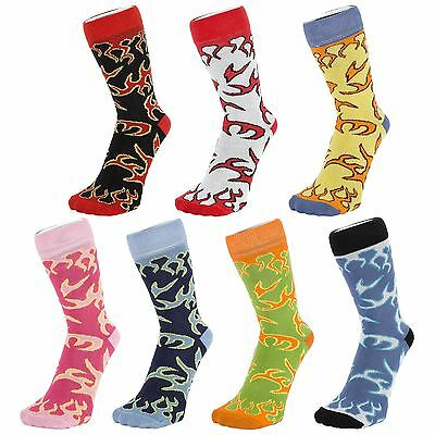 Ankle Socks With Flame Design (Size: 4-7)