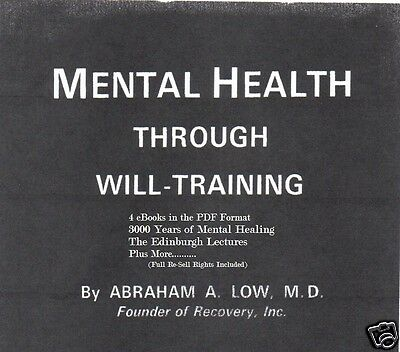 CD- Mental Health Through Will Training - 4 eBooks (Resell Rights)