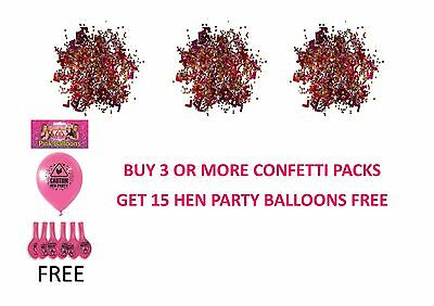 L Plate Confetti Hen Party Night Bride To Be Table Scatters Sprinkles Decoration
