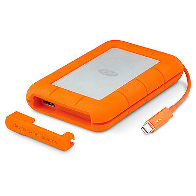 LaCie Rugged Thunderbolt USB 3.0 1TB External Hard Drive - LAC9000488