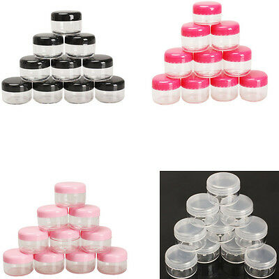 10Pc Cosmetic Empty Jar Pot Empty Eyeshadow Makeup Face Cream Lip Balm Container