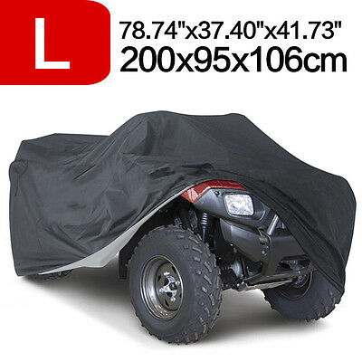 Black Universal Waterproof Quad Bike ATV ATC Rain Cover Size L 200 x95 x106cm